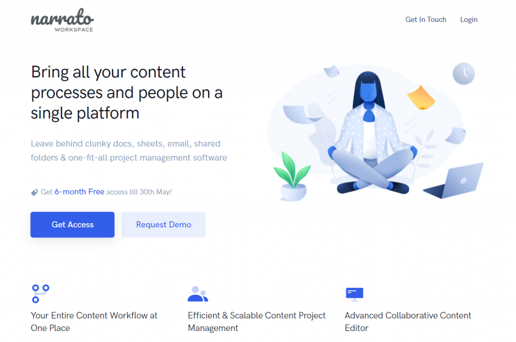 Narrato WorkSpace - content management and workflow software